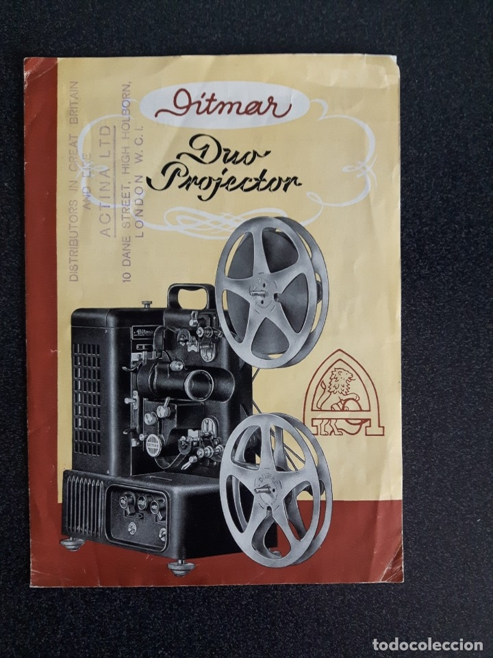 FOLLETO PROYECTOR DE CINE DITMAR, DUO PROJECTOR (Antigüedades - Técnicas - Aparatos de Cine Antiguo - Proyectores Antiguos)