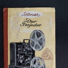 Antigüedades: FOLLETO PROYECTOR DE CINE DITMAR, DUO PROJECTOR. Lote 178272465