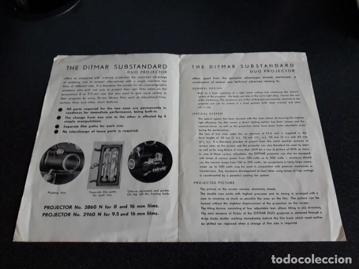 Antigüedades: Folleto proyector de cine DITMAR, DUO PROJECTOR - Foto 2 - 178272465