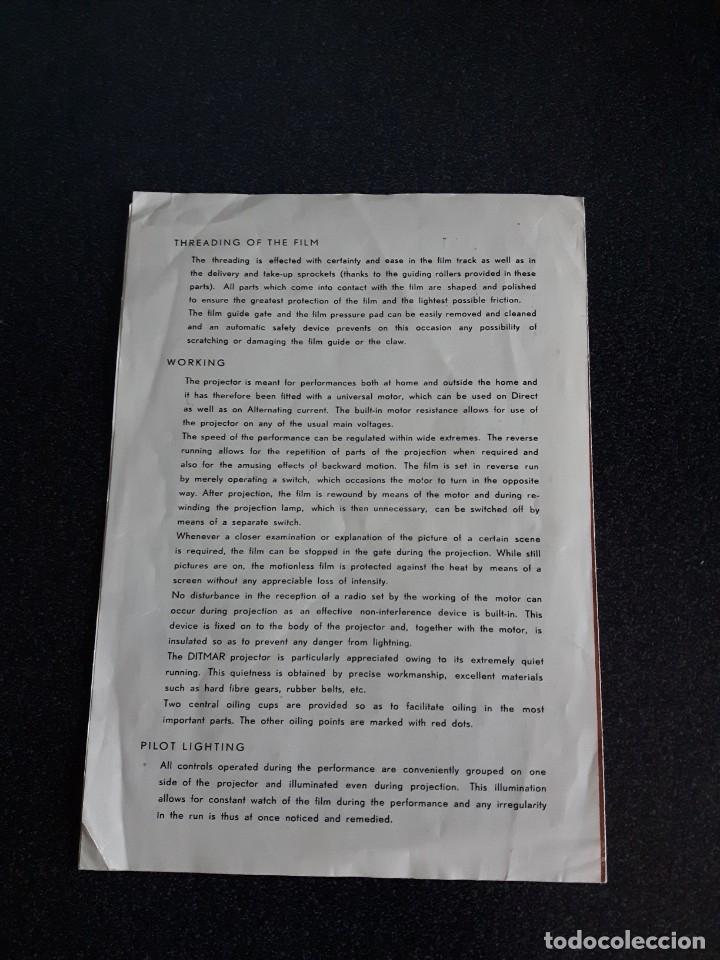 Antigüedades: Folleto proyector de cine DITMAR, DUO PROJECTOR - Foto 3 - 178272465