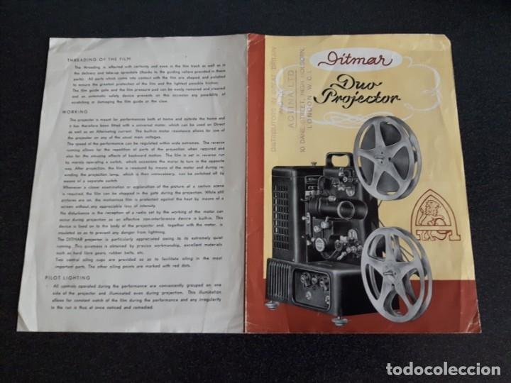 Antigüedades: Folleto proyector de cine DITMAR, DUO PROJECTOR - Foto 4 - 178272465