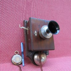 Teléfonos: ANTIGUO TELÉFONO ALEMAN DE MADERA, SOBRE EL AÑO 1900, (TIENE MAS DE UN SIGLO).. Lote 178305635