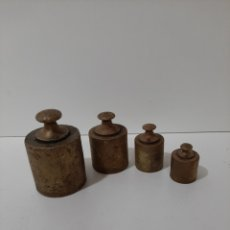 Antigüedades: 4 PESAS DE BRONCE ANTIGUAS. 1 KILO, 500 GRAMOS, 200 GRAMOS Y 100 GRAMOS. PONDERALES.. Lote 178349806