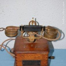 Teléfonos: ANTIGUO TELEFONO MADERA. Lote 178384103