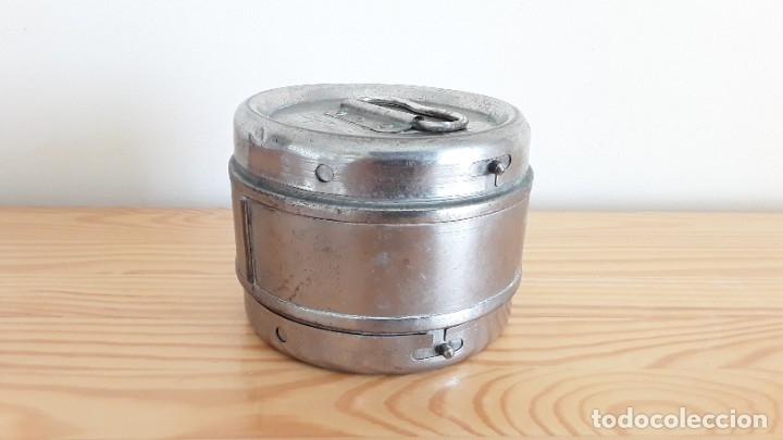 Antigüedades: Antigua algodonera metálica - Foto 3 - 178391570