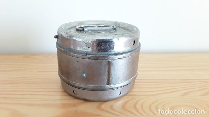 Antigüedades: Antigua algodonera metálica - Foto 4 - 178391570