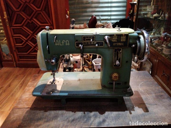 MÁQUINA DE COSER ALFA - ALFAMATIC 103-3- SIN MOTOR (Antigüedades - Técnicas - Máquinas de Coser Antiguas - Alfa)