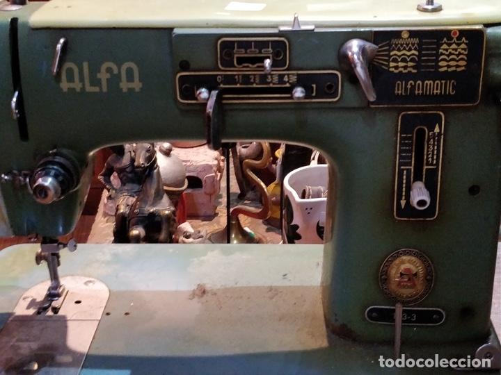 Antigüedades: Máquina de coser ALFA - Alfamatic 103-3- sin motor - Foto 2 - 178441167