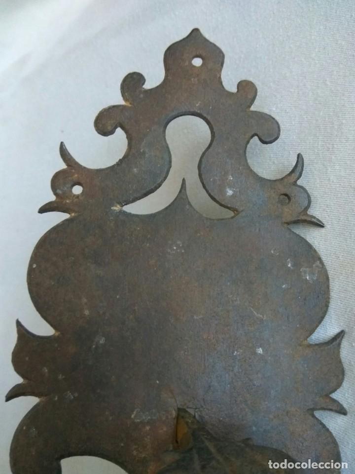 Antigüedades: TIRADOR DE PESTILLO DE HIERRO FORJADO, SIGLO XVII - Foto 10 - 178564923
