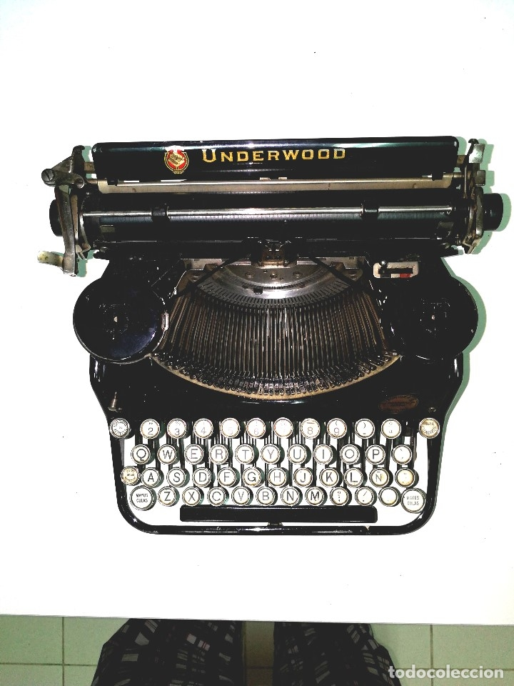 ANTIGUA MÁQUINA DE ESCRIBIR UNDERWOOD -AÑO 1.920 APROX.- (Antigüedades - Técnicas - Máquinas de Escribir Antiguas - Underwood)