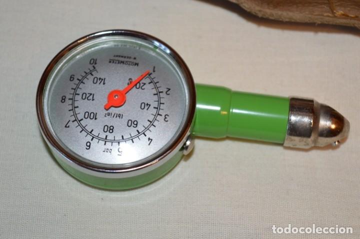 Antigüedades: MotoMeter Germany / ANTIGUO COMPROBADOR DE PRESIÓN, CON BOTON LIBERADOR ¡Haz oferta! - Foto 2 - 178602877