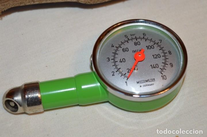 Antigüedades: MotoMeter Germany / ANTIGUO COMPROBADOR DE PRESIÓN, CON BOTON LIBERADOR ¡Haz oferta! - Foto 3 - 178602877