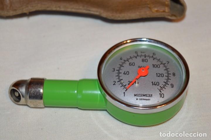 Antigüedades: MotoMeter Germany / ANTIGUO COMPROBADOR DE PRESIÓN, CON BOTON LIBERADOR ¡Haz oferta! - Foto 4 - 178602877