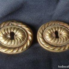 Antigüedades: PAREJA DE ANTIGUOS BRONCES PARA MUEBLE , ORIGINALES SIGLO XIX - IMPERIO . Lote 178607821