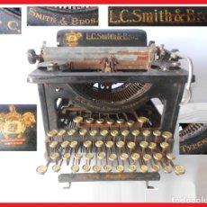 Antigüedades: MÁQUINA DE ESCRIBIR SL.C. SMITH & BROS. TYPEWRITER Nº 8 AÑO 1928. Lote 178658006