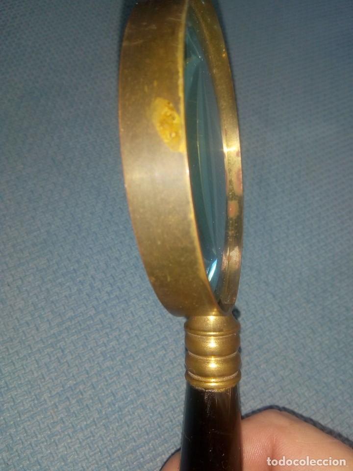 Antigüedades: Antigua lupa latón y asta - Foto 5 - 178778712