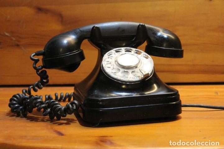 ANTIGUO TELEFONO BAQUILITA ESPAÑOL (Antigüedades - Técnicas - Teléfonos Antiguos)