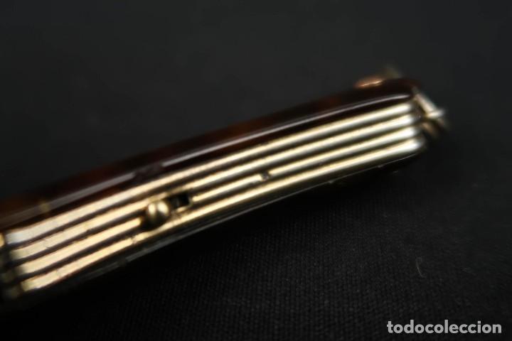 Antigüedades: Antiguas Gafas Impertinentes de Carey oro y plata dorada Siglo XIX - Foto 7 - 178803483