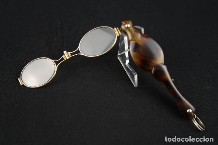 Antigüedades: Antiguas Gafas Impertinentes de Carey oro y plata dorada Siglo XIX - Foto 9 - 178803483