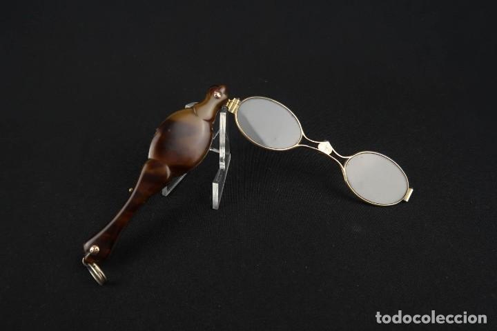Antigüedades: Antiguas Gafas Impertinentes de Carey oro y plata dorada Siglo XIX - Foto 12 - 178803483