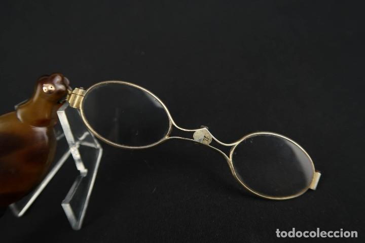 Antigüedades: Antiguas Gafas Impertinentes de Carey oro y plata dorada Siglo XIX - Foto 14 - 178803483