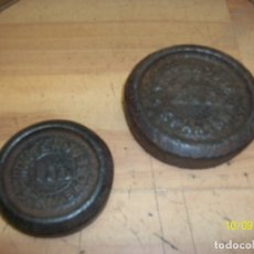Antigüedades: LOTE DE 2 PESAS. Lote 178824830