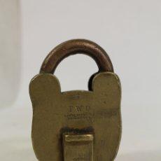 Antigüedades: CANDADO DE BRONCE ANTIGUO PWD. Lote 178835278