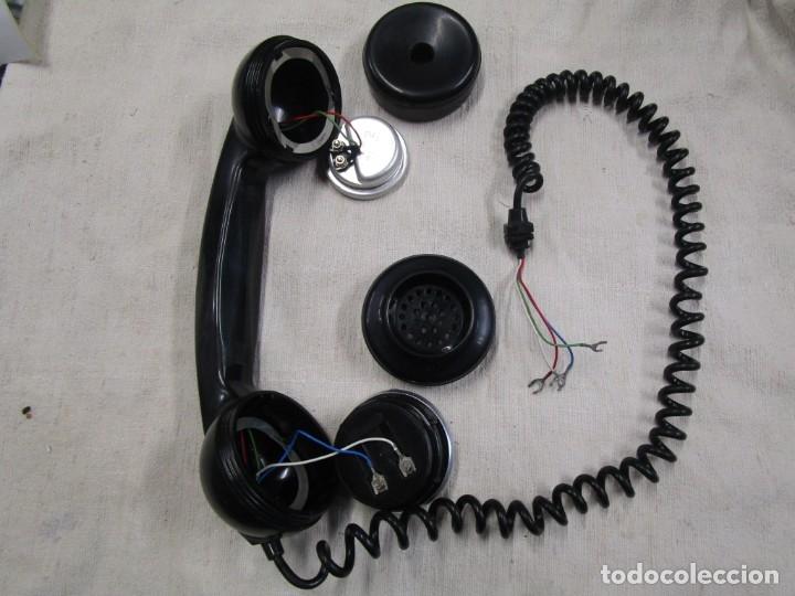 Teléfonos: AURICULAR Y MICRO - TELEFONO DE LOS 70'S, RESINA VINILO NEGRO, COMPLETO Y LIMPIO MINIMO USO ++ INFO - Foto 2 - 178857167