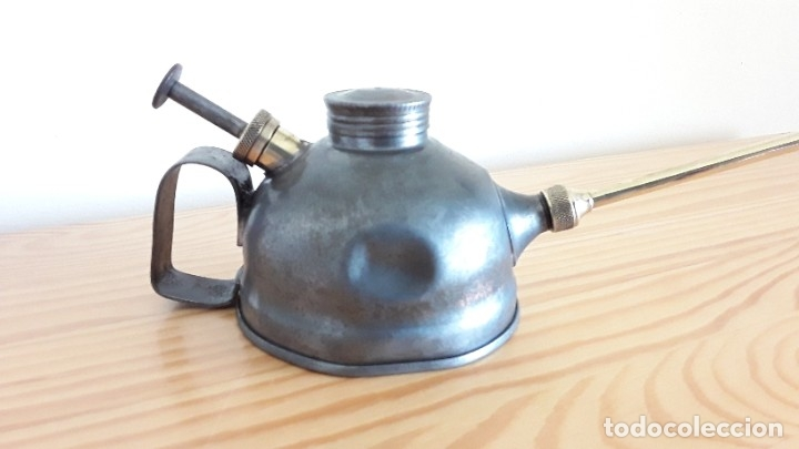 Antigüedades: Aceitera de hierro y latón - Foto 5 - 178867682