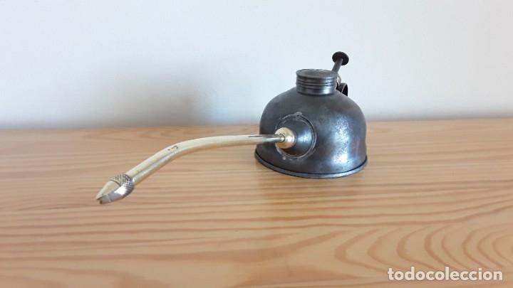 Antigüedades: Aceitera de hierro y latón - Foto 7 - 178867682