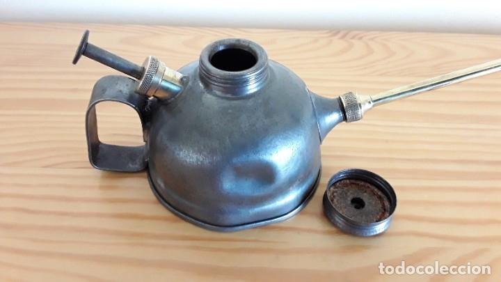 Antigüedades: Aceitera de hierro y latón - Foto 8 - 178867682