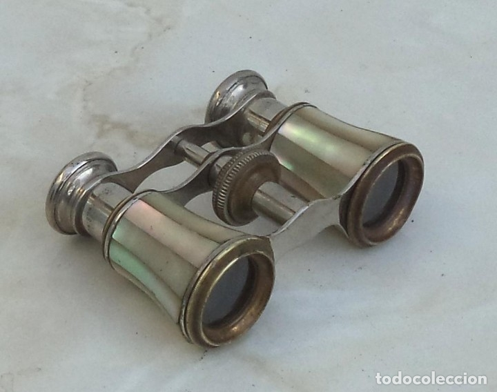Antigüedades: Binoculares, impertinentes, prismáticos, con nácar, s.XIX - Foto 3 - 178900348