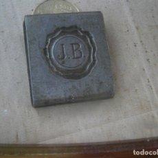 Antigüedades: MOLDE,ORIJINAL,PUBLICITARIO¡DE IMPRENTA,ENTRE,1800,Y PRINCIPIOS,DE,1900,UNICO,¡¡J.B... Lote 178930870