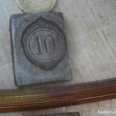 Antigüedades: MOLDE,ORIJINAL,PUBLICITARIO¡DE IMPRENTA,ENTRE,1800,Y PRINCIPIOS,DE,1900,UNICO,¡10¡¡. Lote 178931677