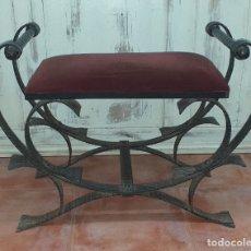 Antigüedades: BANQUETA DE FORJA. Lote 178966267