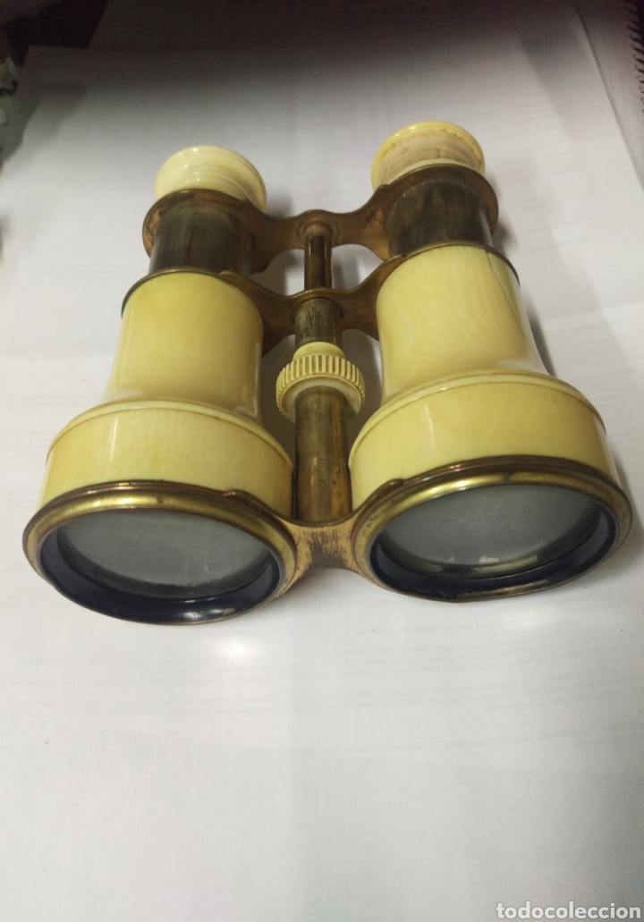 ANTIGUOS PRISMÁTICOS DE MARFIL (Antigüedades - Técnicas - Instrumentos Ópticos - Catalejos Antiguos)