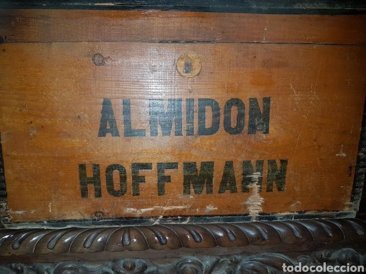 Antigüedades: Caja madera Almidon Hoffman - Foto 2 - 179045803