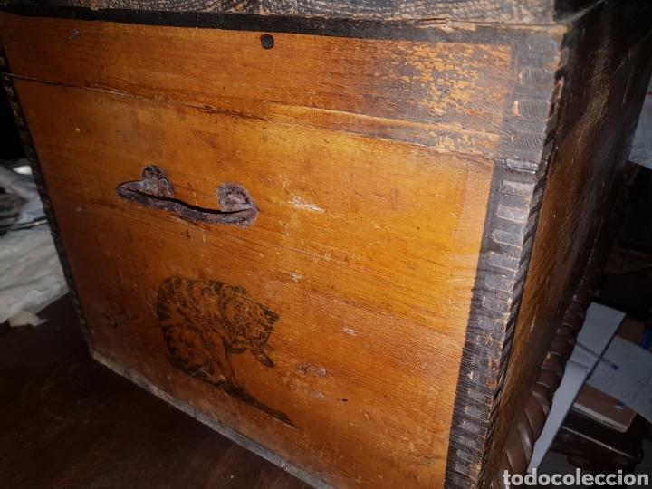 Antigüedades: Caja madera Almidon Hoffman - Foto 3 - 179045803
