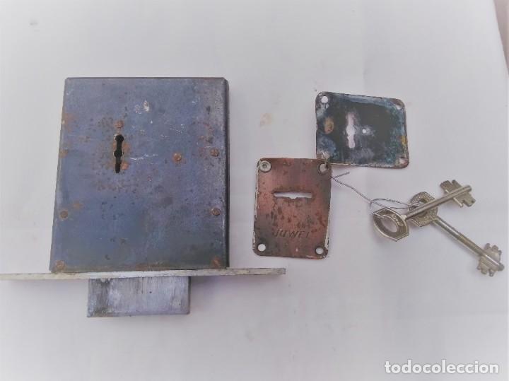 CERRADURA DE SEGURIDAD MARCA HUWEL (Antigüedades - Técnicas - Cerrajería y Forja - Cerraduras Antiguas)