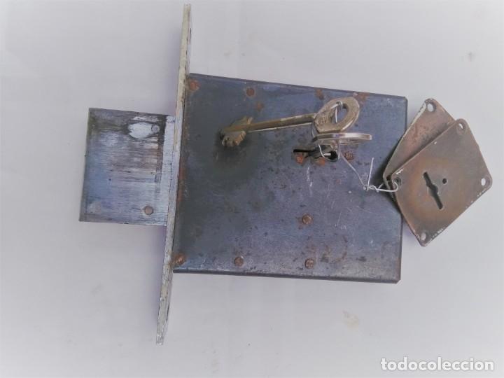 Antigüedades: cerradura de seguridad marca Huwel - Foto 3 - 194991795