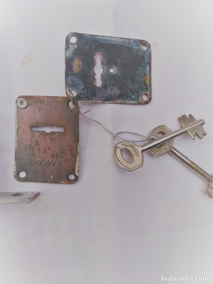 Antigüedades: cerradura de seguridad marca Huwel - Foto 4 - 194991795