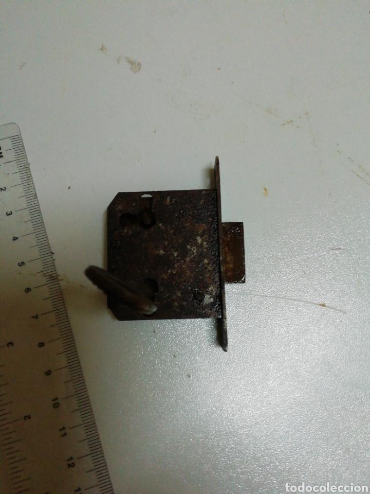 Antigüedades: Cerradura mueble antiguo de embutir - Foto 4 - 179060458