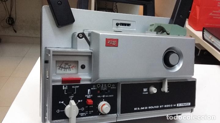 MAGNIFICO PROYECTOR DE CINE SONORO SUPER 8 ELMO ST 600DM 2 TRACK COMO NUEVO (Antigüedades - Técnicas - Aparatos de Cine Antiguo - Proyectores Antiguos)