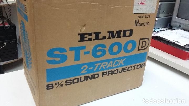 Antigüedades: MAGNIFICO PROYECTOR DE CINE SONORO SUPER 8 ELMO ST 600DM 2 TRACK COMO NUEVO - Foto 7 - 179104468
