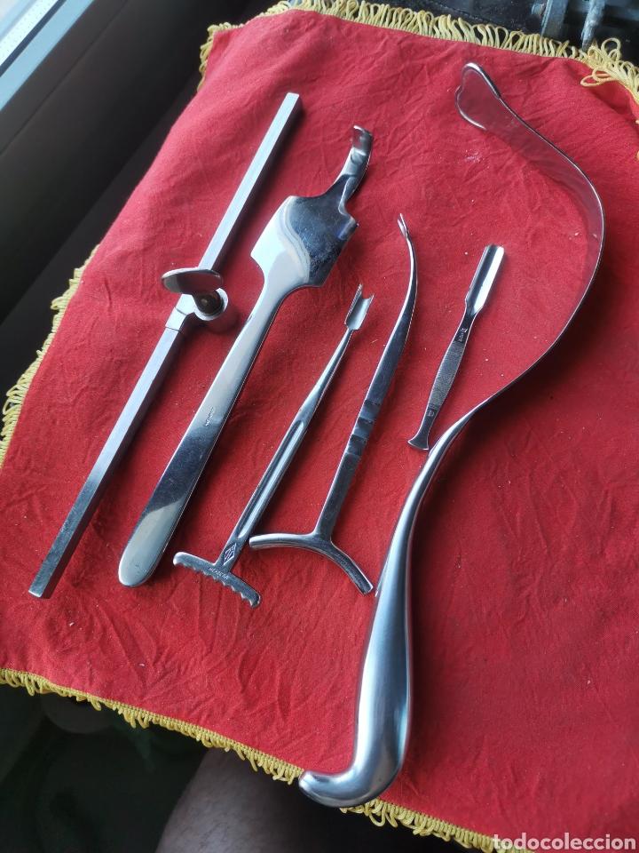 LOTE INSTRUMENTOS MÉDICOS ANTIGUOS. 2 (Antigüedades - Técnicas - Herramientas Profesionales - Medicina)