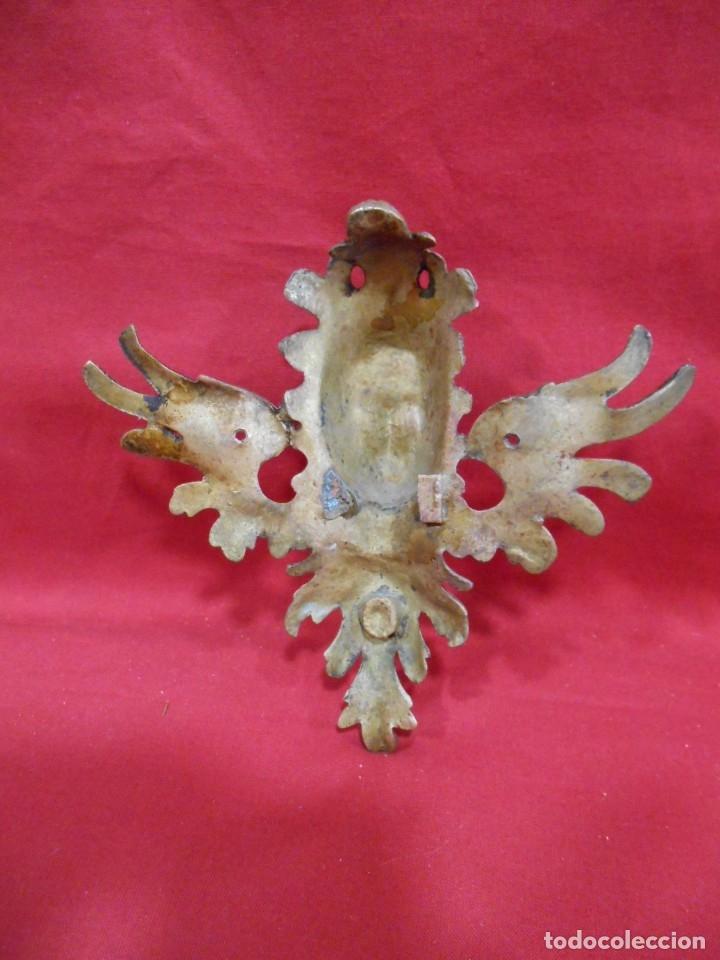 Antigüedades: ANTIGUO REMATE ESQUINERO - MASCARON EN BRONCE CON IMAGEN DE DAMA - - Foto 3 - 179183945