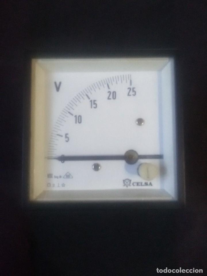 VOLTÍMETRO CELSA72- 25V CC. (Antigüedades - Técnicas - Herramientas Profesionales - Electricidad)