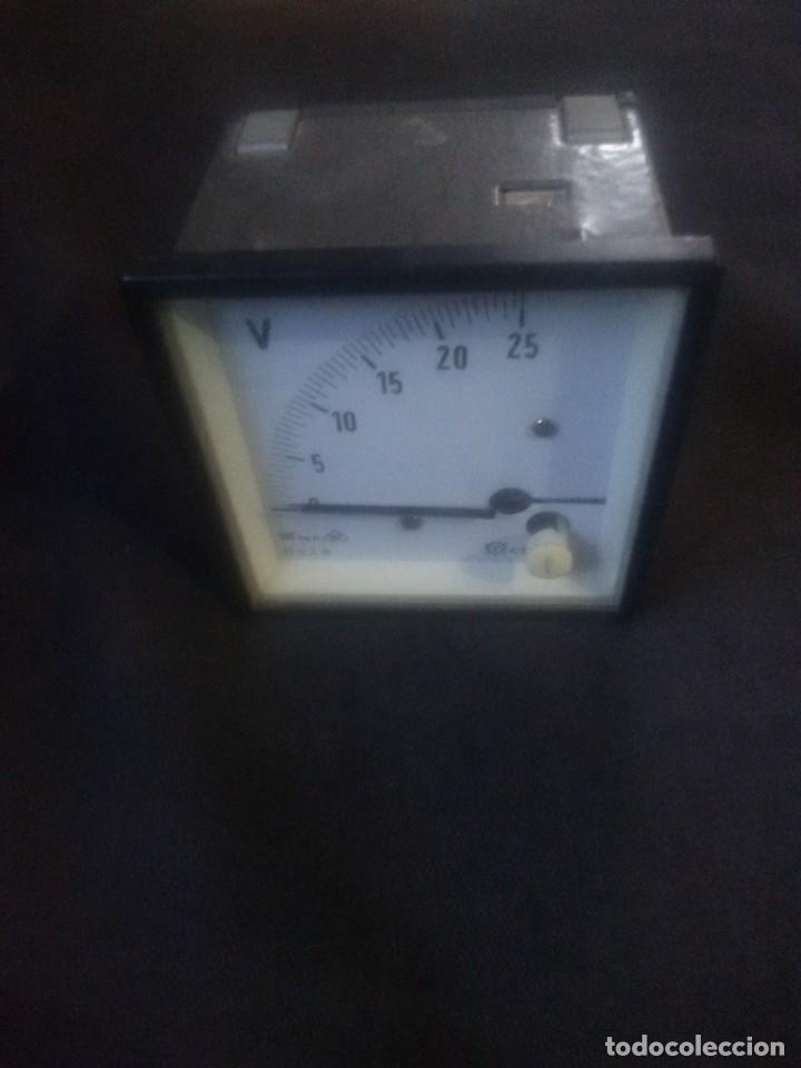 Antigüedades: Voltímetro Celsa72- 25V CC. - Foto 3 - 179184062