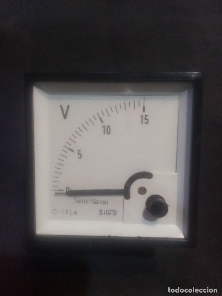 VOLTÍMETRO MARCÁ: SÍLEX SERIE NAVAL 15V CC (Antigüedades - Técnicas - Herramientas Profesionales - Electricidad)