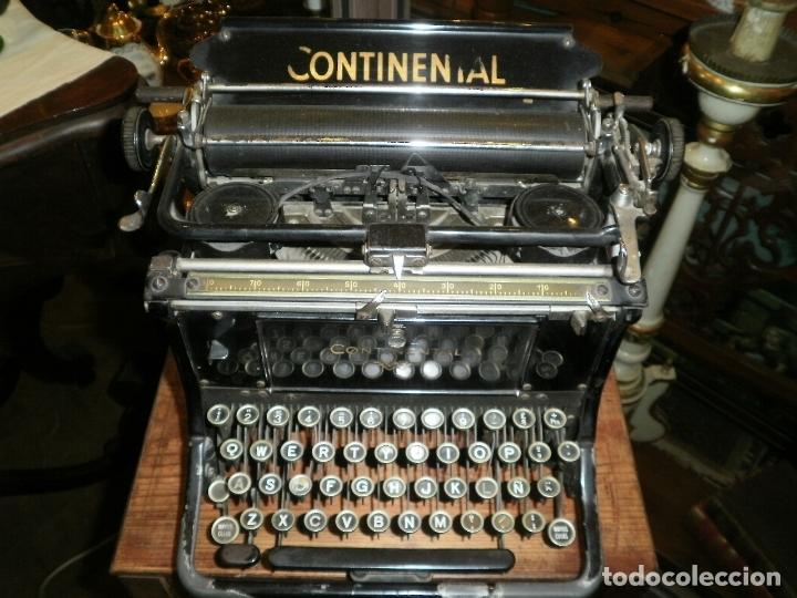 ANTIGUA MAQUINA DE ESCRIBIR -CONTINENTAL- (Antigüedades - Técnicas - Máquinas de Escribir Antiguas - Continental)